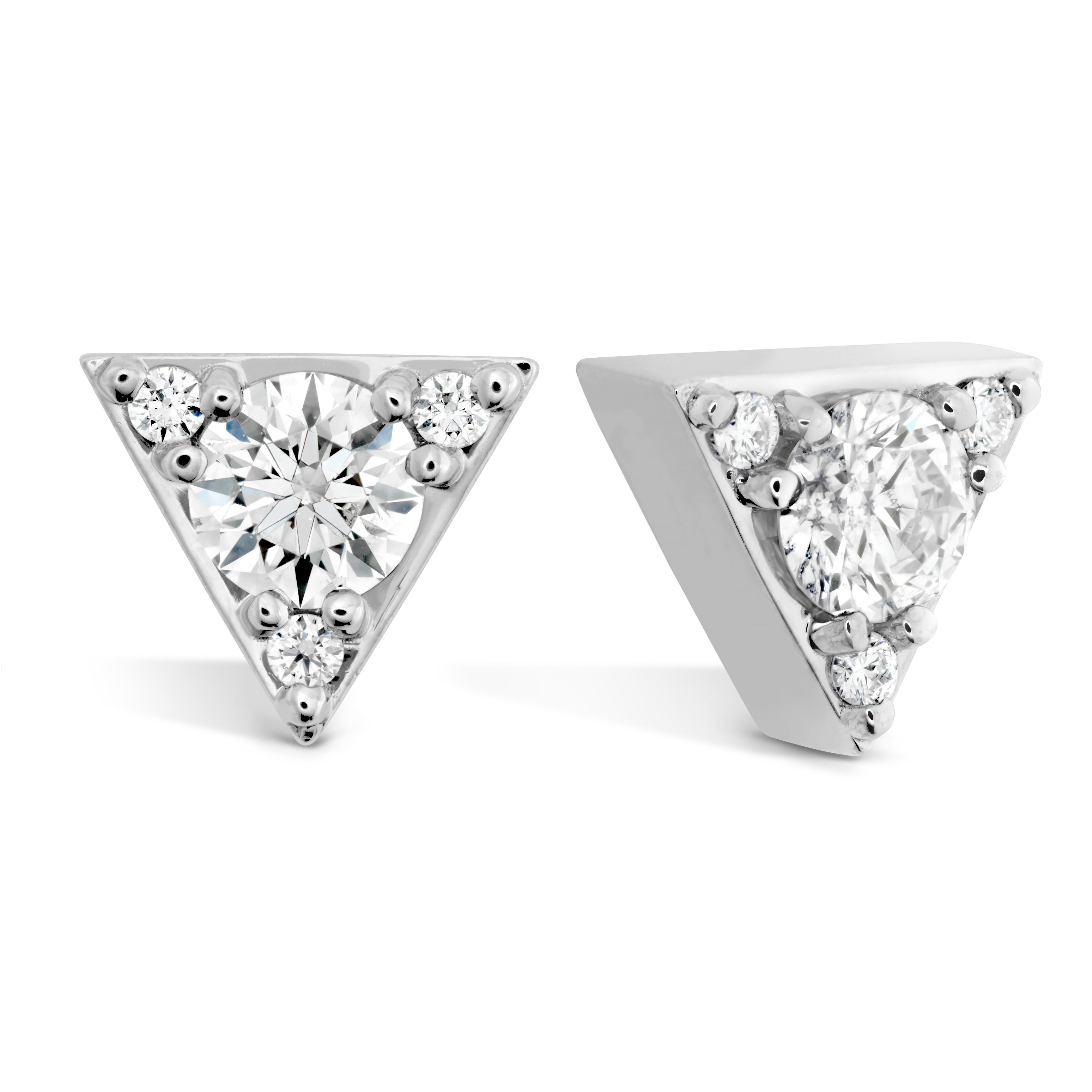 Picture Of Triplicity Triangle Stud Earrings