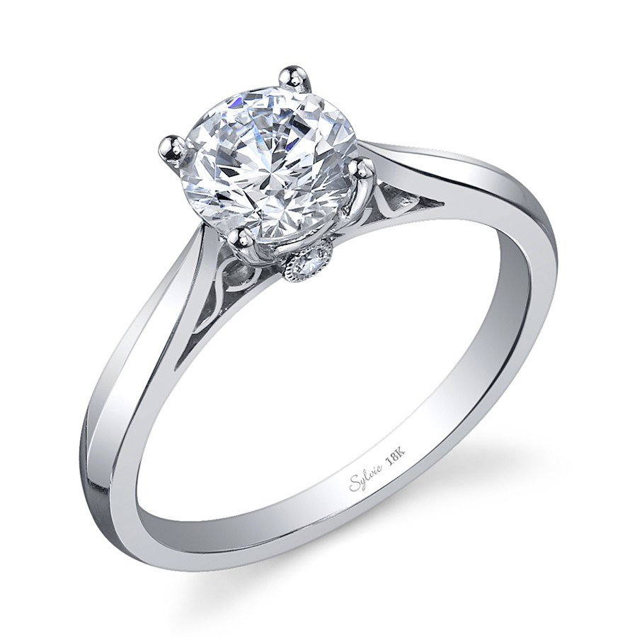 Sylvie Collection Solitaire White Gold Diamond Engagement Ring Designer Engagement Rings Fine Jewelry Arthur S Jewelers