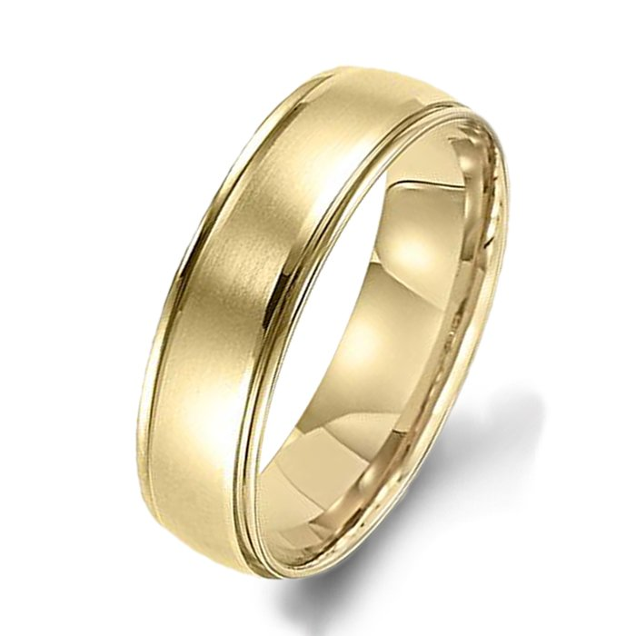 Arthurs Collection Plain Yellow Gold Mens Wedding Bands Designer