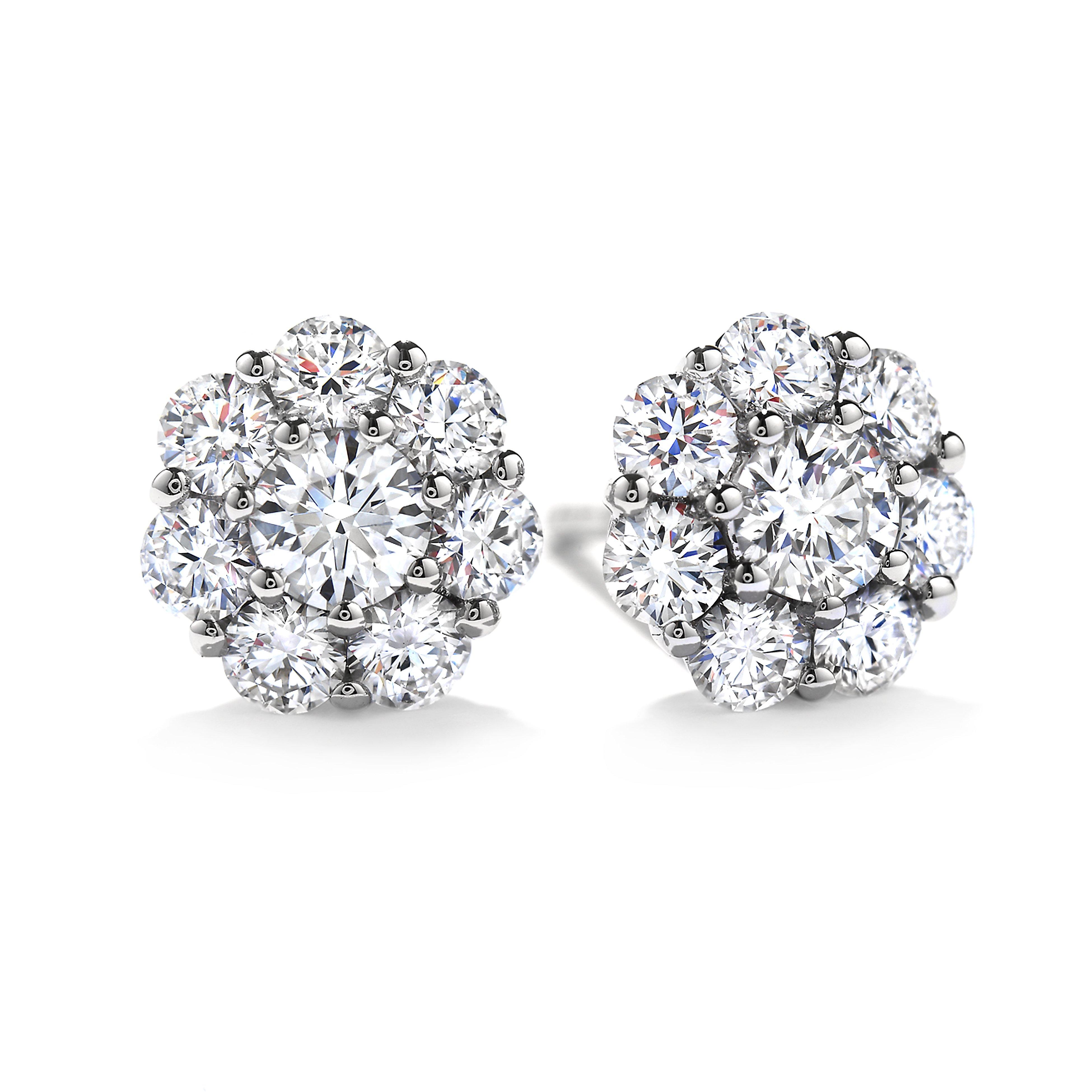4962b0f40 Hearts On Fire 18K - White Gold Diamond Earrings Beloved Stud ...