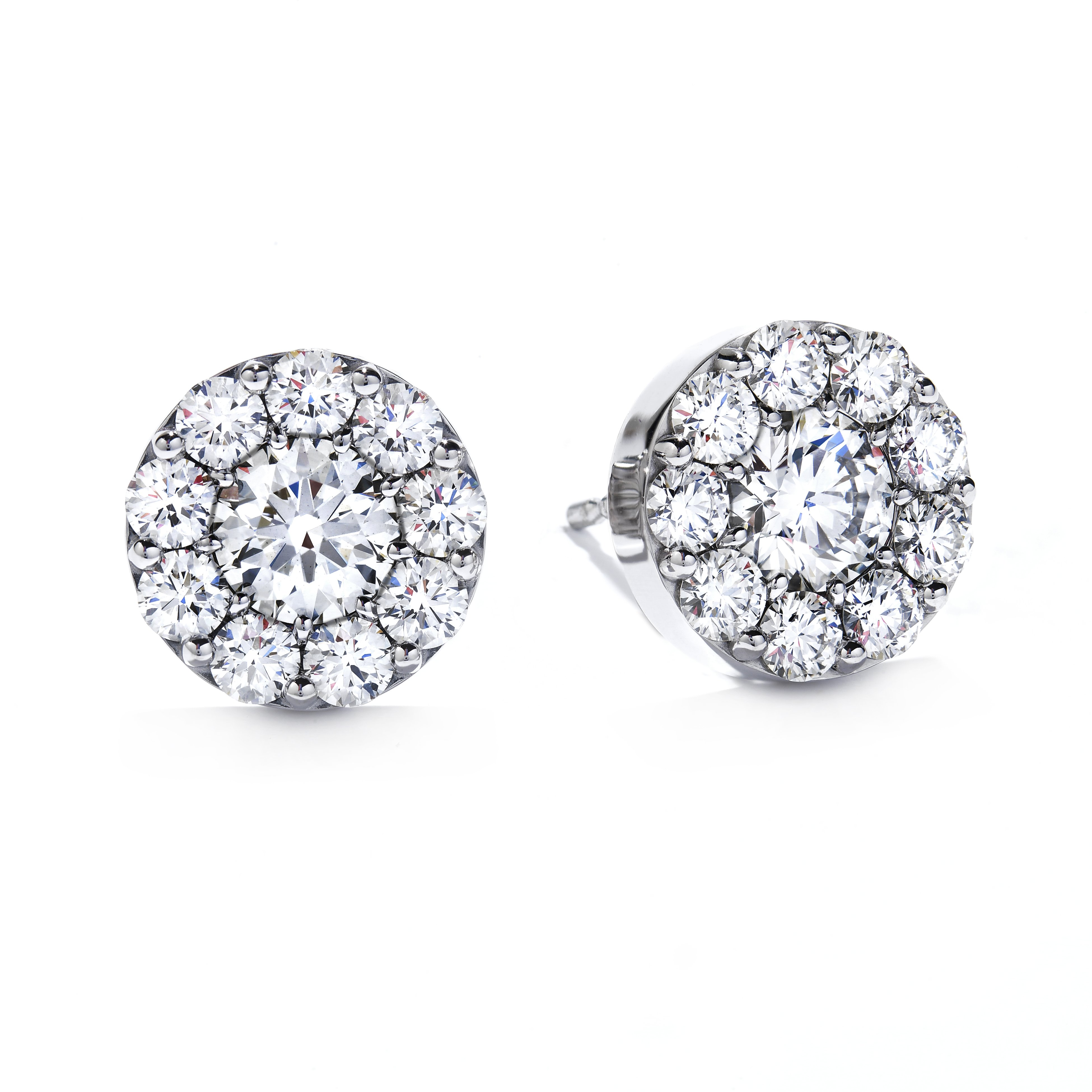 3ad4dbd9e Hearts On Fire 18K - White Gold Diamond Earrings Fulfillment Round ...
