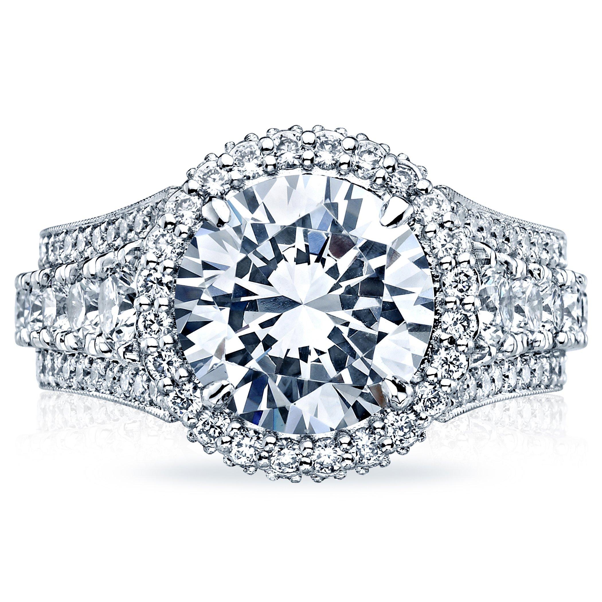 Diamond Tacori Bands: Tacori Halo Platinum Diamond Engagement Ring. Designer