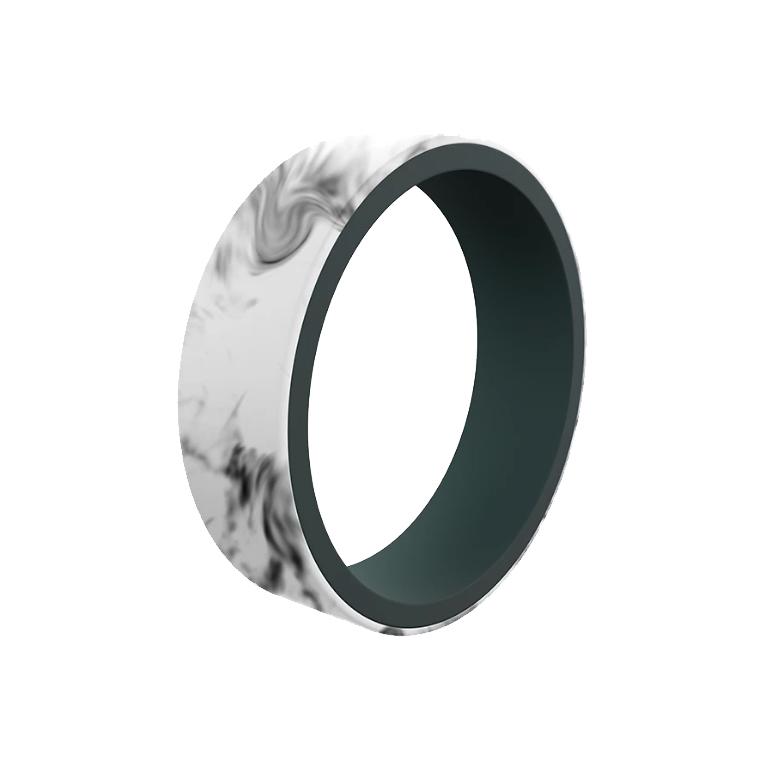 Qalo Plain Sterling Silver Mens Wedding Bands Designer Engagement