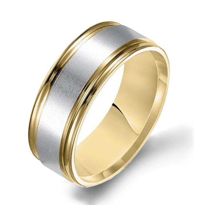 Arthurs Collection Plain Yellow Gold Mens Wedding Bands Designer